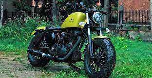 royal enfield clic 350 modified into