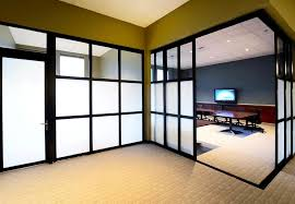glass privacy walls and partitions in office