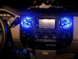 2008 F350 Interior Lights Added Led Light Strips Inside Ac Vents Ford Powerstroke