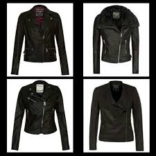 image buckle hem biker jacket