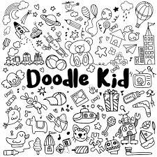 Insieme Di Doodle Di Bambini Disegnati A Mano Scaricare Vettori