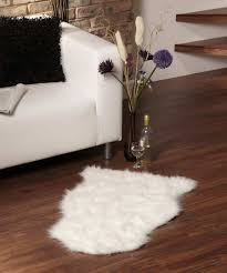 minimalist living room with white small faux sheepskin rug ikea and