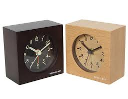 solid wood clocks mute intelligent small squares alarm clock with put down snooze function desk clock