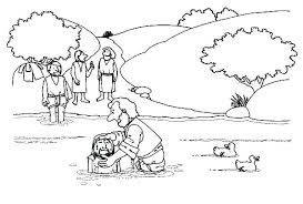 Jesus Being Baptism By John The Baptist Coloring Page Pages Baptized