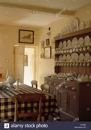 Dining Crockery Designs White Crockery On Antique Pine Dresser In Country Dining