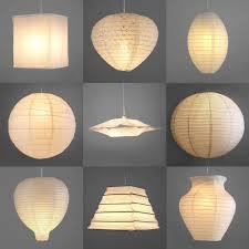 pair of modern paper ceiling pendant light lamp shades lanterns kit