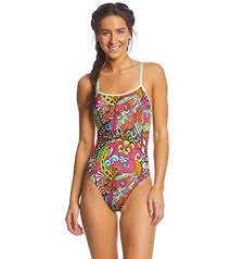 Dolfin Womenu0027s Uglies Double Strap Back One Piece Swimsuit (Looking Glass,  30)