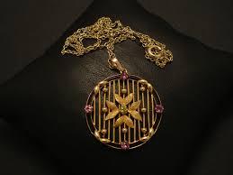 handcrafted edwardian 9ctgold round pendant 02708 jpg