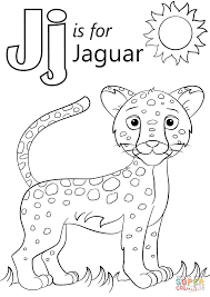 Small Picture Letter J Is For Jaguar Coloring Page Inside Coloring Pages itgodme