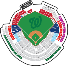 Detailed Nationals Park Seating Chart Washington Nationals Stadium Seating Chart Nationals Park