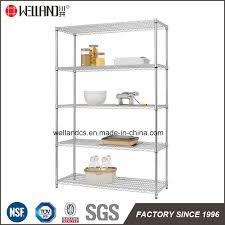 china basic 5 shelf accessories heavy duty nsf chrome steel storage wire rack kitchen shelving china whole wire shelving heavy duty shelf