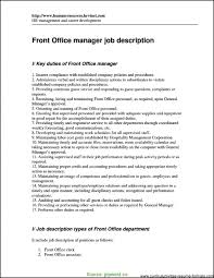 Complex Resume Format For Front Office Executive Front Desk Clerk