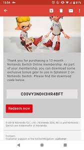 Splatton 2 Code Free To A Good Home Nintendoswitch
