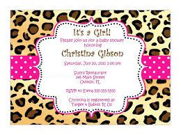 Good Zebra Print Baby Shower Invitations And Frightening Leopard
