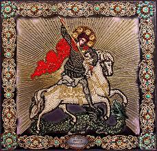 Георгий Победоносец |Образа в каменьях| Наборы для вышивания
