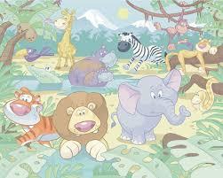 Bolcom Walltastic Posterbehang Baby Jungle