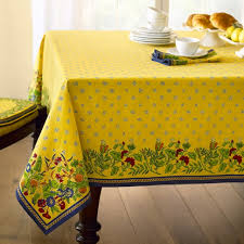 country tablecloths french kitchen oval creasey provence tablecloth williams sonoma