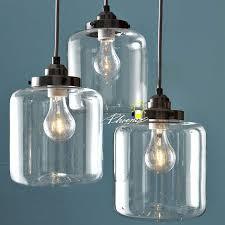 country blown glass jar pendant lighting 8083