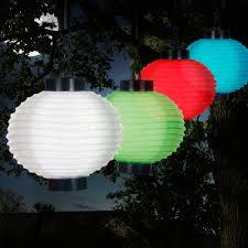Pure Garden 4Light Red Outdoor LED Solar Chinese Lantern5019R Chinese Lantern Solar Lights