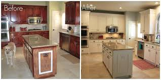 brilliant design painted kitchen cabinets before and after black trend white painting good idea oak new