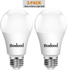 Dusk To Dawn Light Bulbs B Q Dusk To Dawn A19 Led Light Bulb Automatic On Off Built In Light Sensor 9w 60w Equivalent 600 Lumen 3000k Warm White E26 Base Indoor Outdoor
