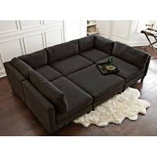 oversized leather couch. Plain Leather Chelsea Reversible Sleeper Sectional With Ottoman Intended Oversized Leather Couch