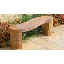 3 seater curved granite stone bench