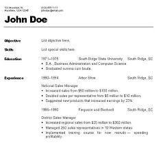Different Resume Formats Template Resume Builder