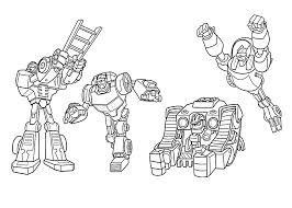 rescue bots coloring pages