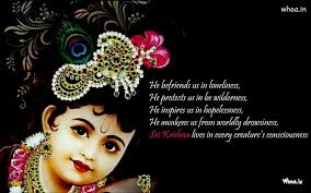 Lord Krishna Quotes Enchanting Image Of Balkrishna With Quote HD