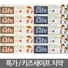 <b>CJ Lion</b> Kids <b>Safe</b> toothpaste 90 gx 5 ea / strawberry / grape / dental ...