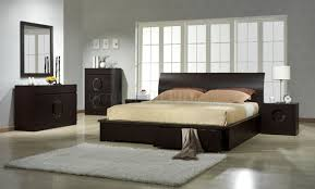 Zen Dark Chocolate Bedroom by J&M w/Platform Bed