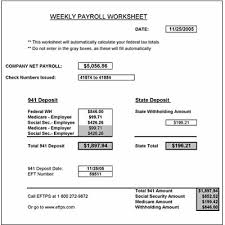 How Are Payroll Taxes Calculated Free Weekly Payroll Tax Worksheet