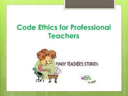 Teacher Powerpoint Ppt Code Ethics For Professional Teachers Powerpoint Presentation