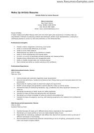 easy makeup artist resume sles with artist resume sle best resume collection