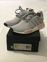 Clear Onix Light Onix Vapour Pink Authentic Adidas Nmd R1 Women Clear Onix Grey Pink By3058