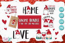 Svg stands for scalable vector graphics. Gnome Saying Bundle Graphic By Cute Files Creative Fabrica Valentines Svg Gnomes Graphic Design Pattern