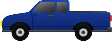 Blue Pickup Truck Clip Art - Free Clip Art