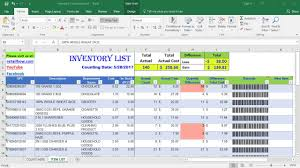Inventory Cycle Count Excel Template How To Count Inventory Using Only Excel Barcode Scanner