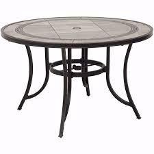 barnwood 48 round tile top patio table