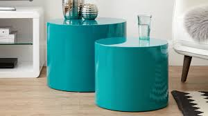 teal gloss round side tables set of 2 uk intended for table remodel 0