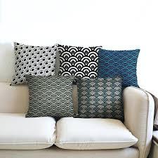 outdoor patio pillows sea shell shape geometric home decor pillow blue gray concise car cushion canada