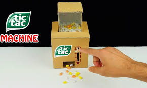How To Make A Candy Vending Machine Out Of Cardboard Simple How To Make Tic Tac Candy Machine From CARDBOARD How To Tutorials