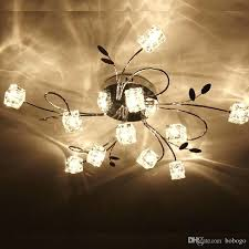 decoration new crystal cube ceiling light lamp living room bedroom lighting fixture creative led foyer