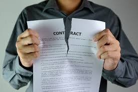 Breach Of Employment Contract Extraordinary Contract Termination For Material Breach Construction Specifier