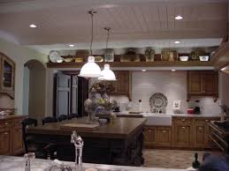 divine two pendant lamps over square kitchen island as inspiring lighting installations kitchen ceiling ideas in vintage kitchen plans