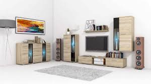 Wenge Living Room Furniture Living Room Set Wall Unit Chest Of Drawers Salsa Wenge