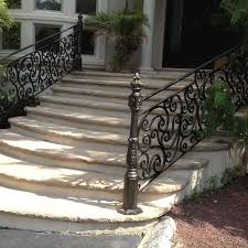 exterior wrought iron stair railings. Exellent Railings Exterior Custom Railing Intended Wrought Iron Stair Railings U