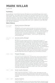 Engineering Manager Resume Examples Inspiration Qa Qc Resume Sample Quality Control Manager Resume Sample Gallery