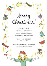 christmas party invitations customise